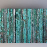 Destroyed Teal Wood - Photography Backdrop