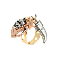 Gold plated brass with horn and skull  *PROMOTION