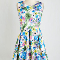 ModCloth Mid-length Sleeveless Fit & Flare Come Pizzazz You Are Dress