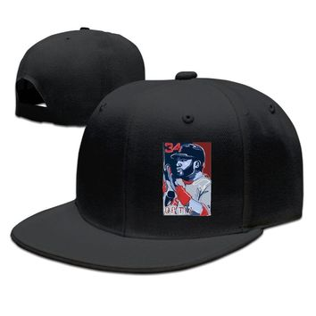 David Ortiz Of The Boston Red Sox Printing Unisex Adult Womens Flat Brim Hats Mens Snapback Caps