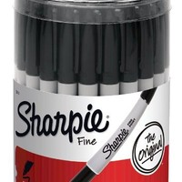 Sharpie Permanent Markers, Fine Point, Black, 36-Pack (35010)