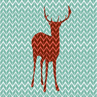 Oh Deer! Art Print by Rachel Burbee