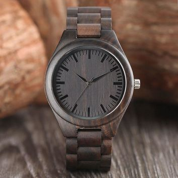 Creative Full Natural Wood Male Watches Handmade Bamboo Novel Fashion Men Women Wooden Bangle