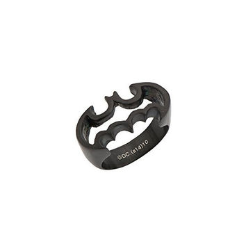 Batman Officially Licensed Black IP Stainless Steel Silhouette Cutout Ring (7)