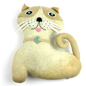Felted Friends Cat Stuffed Animal Toy