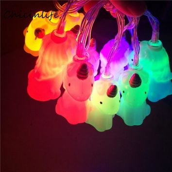 Chicinlife 1set Unicorn Led Night Light Chain Christmas New year Party Outdoor Decoration Kids Room hanging decoration