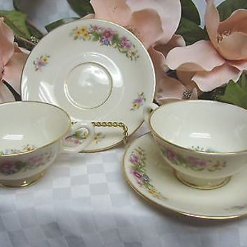 Lenox China Dinnerware, Avon Pattern #S300 set 2 cup and saucer