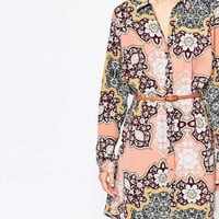 River Island Paisley Print Shirt Dress at asos.com