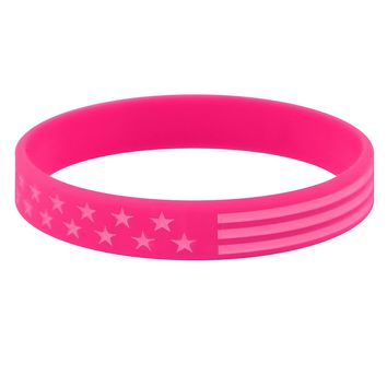 Tactical Pink USA Motivational Wristband