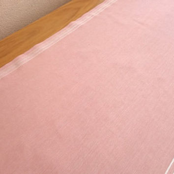 NEW!! Pink Linen Wedding Table Runner, Modern Table Runner, Handmade Table Cover, Linen Tablecloth, Striped Table Runner