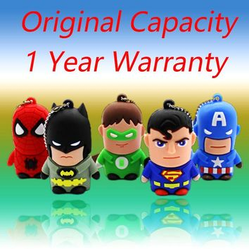 USB 3.0 Cartoon Superman Spiderman Batman  128GB 512GB 32GB64GB Flash Drive On Key ring