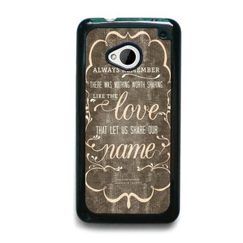 THE AVETT BROTHERS QUOTES HTC One M7 Case Cover