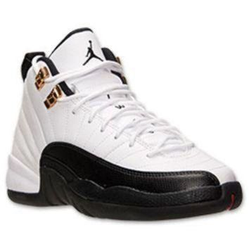 ONETOW Boys' Grade School Air Jordan Retro 12 Basketball Shoes