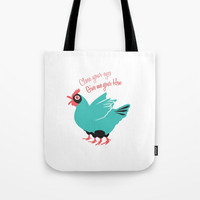 Close your eyes give me your hen Tote Bag by trash-id
