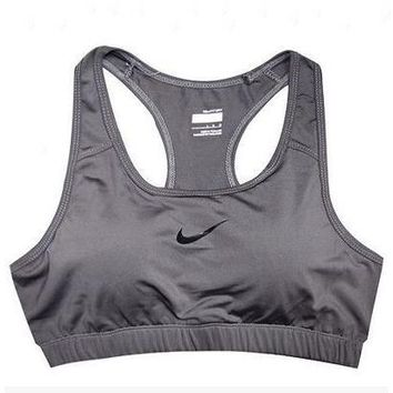 NIKE Casual Gym Sport Yoga Embroidery Print Vest Tank Top Cami-3