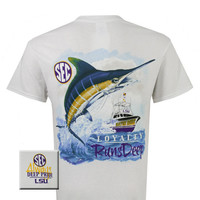 Louisiana State LSU Tigers Deep Pride Loyalty Runs Deep High Tide Fish Unisex Bright T Shirt