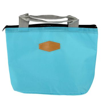 E-SHOW 1pcs Oxford Fabric Lunch Container Thermal Insulated Lunch Storage Box Cooler Bag Tote Bento Pouch - Six Colors