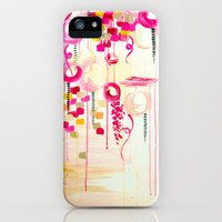 BALLOON LOVE Bubblegum POP! Beautiful Cheerful Bubbles Pretty Pink  Abstract Acrylic Painting Sky iPhone & iPod Case by EbiEmporium