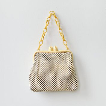 vintage 1930s celluloid frame chainmail bag