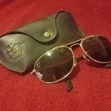 Vintage Ray Ban Aviator Sunglasses 1992 Olympic Games Limited Edition Very Rare!
