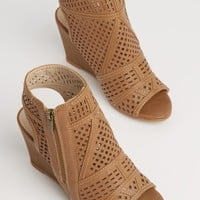 Olive Geo Cutout Wedge Heel | Wedges | rue21
