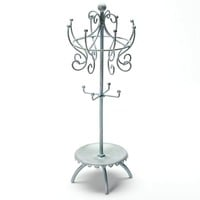 Silver Tone Spinner Jewelry Stand (Grey)