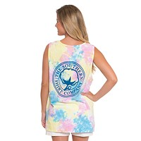 Tie Dye Pocket Tank Top in Sunny Day by The Southern Shirt Co. - FINAL SALE