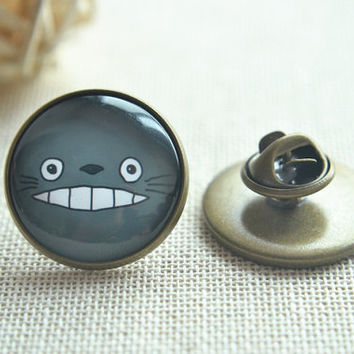 Totoro Brooch Pin,My neighbour totoro  Picture pins, round brooch,round Anime pin brooch (PI002)
