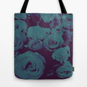 Mother May I -blue- Tote Bag by Ducky B