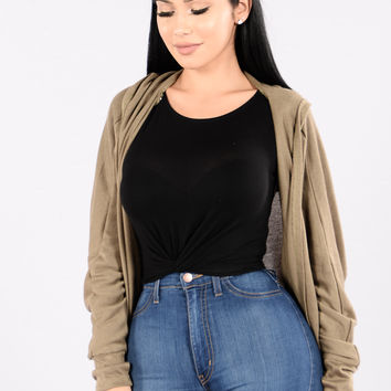 Kickback and Chill Sweater - Olive