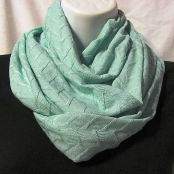 Seafoam Infinity Scarf...Light Weight Stretch Fabric