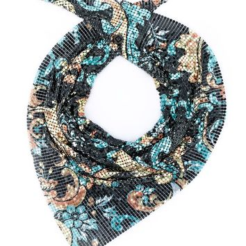 PACO RABANNE   Floral Chainmail Scarf   brownsfashion.com   The Finest Edit of Luxury Fashion   Clothes, Shoes, Bags and Accessories for Men & Women