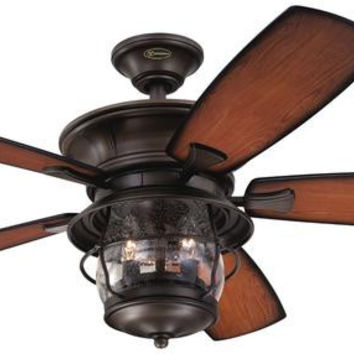Brentford 52-Inch Reversible Five-Blade Indoor/Outdoor Ceiling Fan