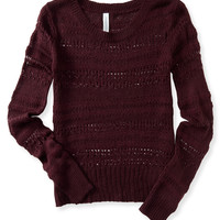 Long Sleeve Open-Knit Sweater