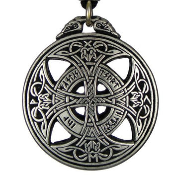 Large Celtic Knot Love Pendant Viking Norse Rune Necklace Wiccan Pagan Asatru Jewelry