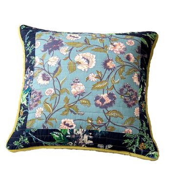 Tache 2 PC Bohemian Tropical Calla Lily Patchwork Quilted 18x18 Cushion Covers (TAJHW-687-CC)