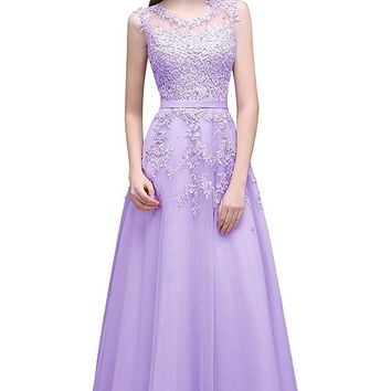 Long Homecoming Dress Evening Party Prom Gown
