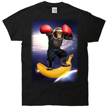Astronaut Monkey Boxing In Space T-Shirt