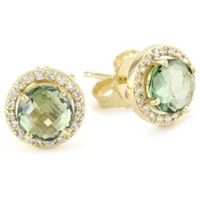 Kalan by Suzanne Kalan Round Green Envy Topaz Earrings