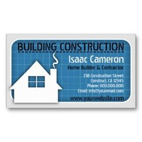 Blueprint  Professional Construction Business Card from Zazzle.com