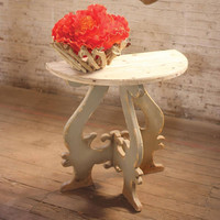 Wooden Demi Lune Table