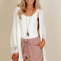 Play Your Cardi Right Knit Cardigan Natural