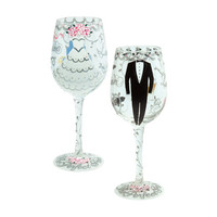 Lolita Bride & Groom Wine Glass Set