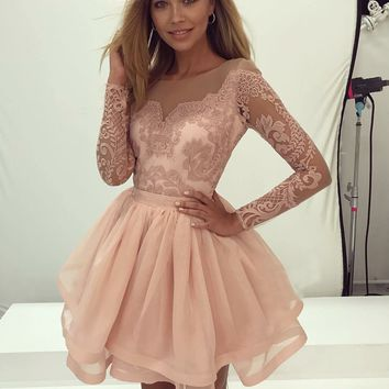 White Lace Off Shoulder Homecoming Dresses,Short Homecoming Dresses