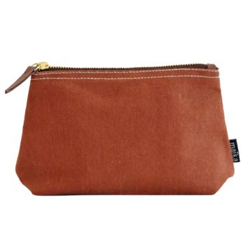 Travel Pouch - Waxed Camel