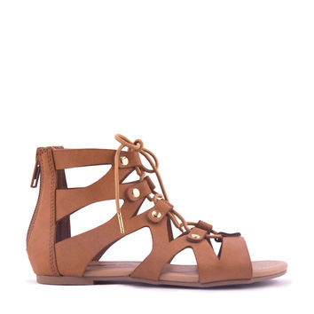 Lace Up Girls Gladiator Sandal