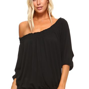 3/4 Sleeve Peasant Top