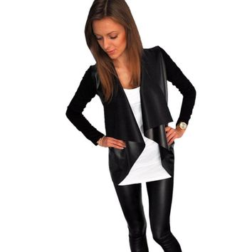 MUQGEW Fashion Women's Casual New  Cardigan Outwear Jacket Coat Polyester Full Length Solid Color Simple And Casual Style
