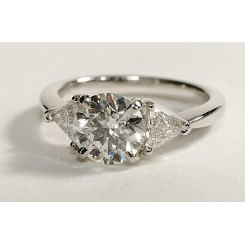SALE A Perfect 2CT Round Cut Russian Lab Diamond Engagement Ring 569d1a4c2908