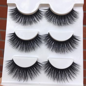 013 New Black Exaggerated 3D False Eyelashes Soft Cotton Stitch High Quality Fiber Fake Eyelashes Cross Messy Makeup Eye Lashes